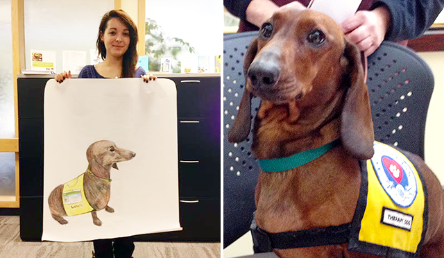 Baldwinsville student artistic tribute to pet therapy