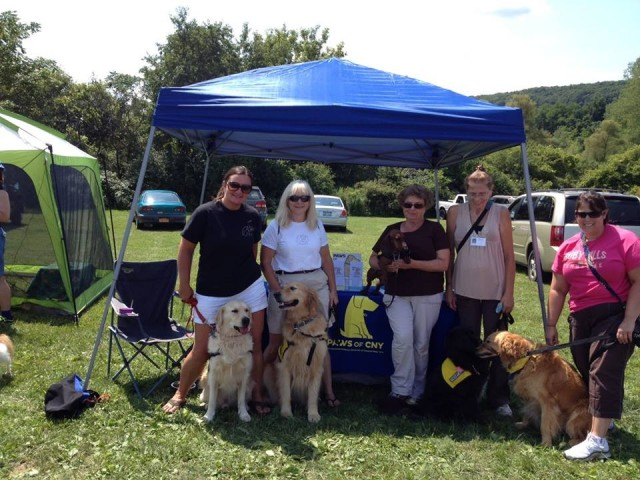 PAWS of CNY volunteers at the Canine Carnival at Jamesville Beach Park