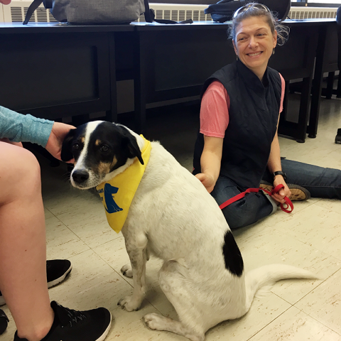 Morrisville College Pet Therapy with Lola