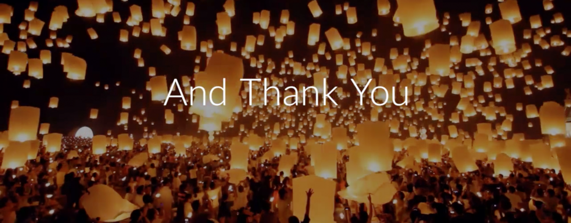 A Special Message of Thanks to Our Volunteers