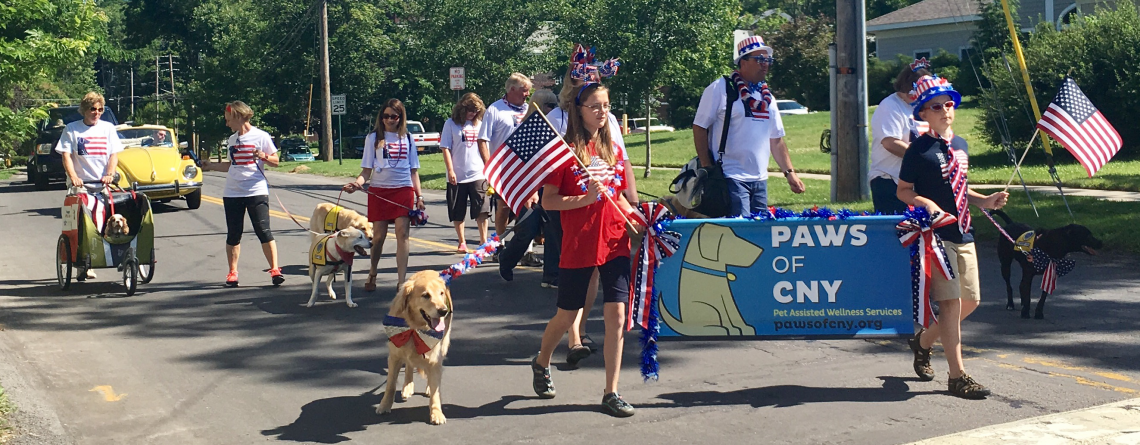 PAWS of CNY Volunteers March with Pride in Annual Manlius 4th of July Parade