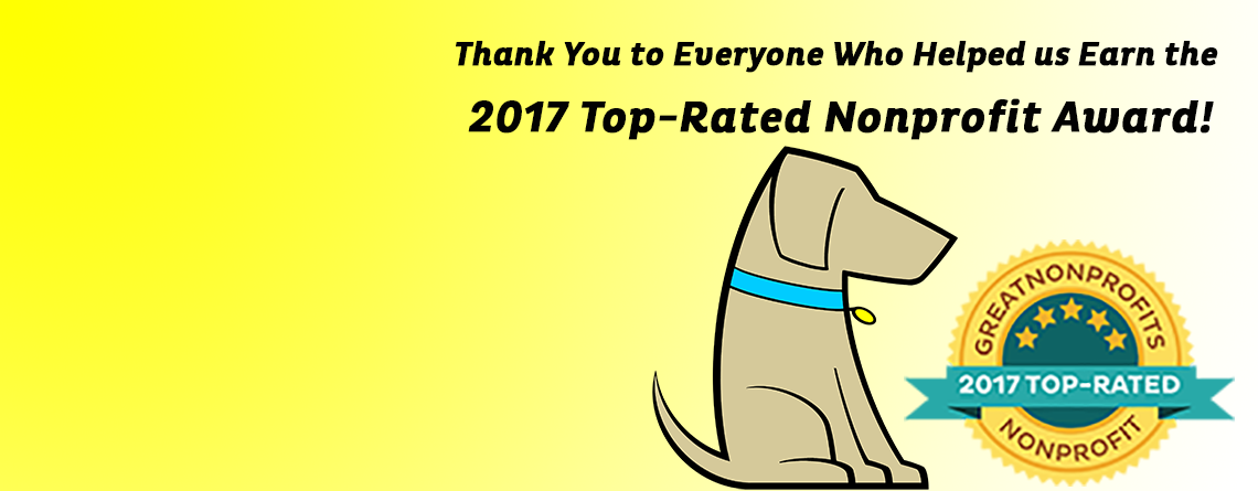 PAWS of CNY Earns Great Nonprofits 2017 Top-Rated Award