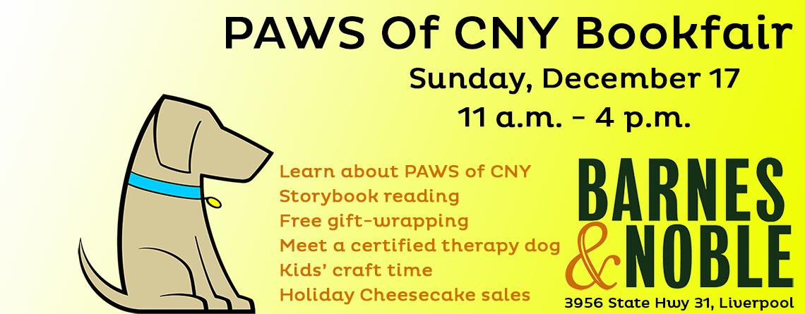 PAWS of CNY Annual Bookfair at Barnes & Noble