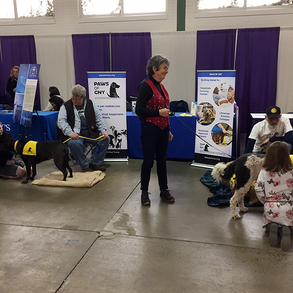 Pet-Therapy Teams at Syracuse Kids Expo - Olive and Yuki